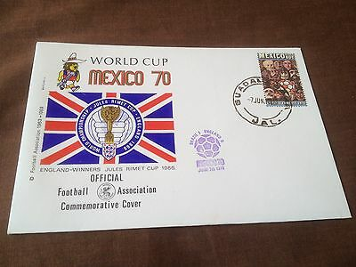 Fifa World Cup Mexico 1970 – Commemorative Cover – England V Brazil Fdc