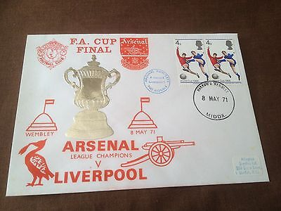 1971 Fa Cup Final – Arsenal V Liverpool – Commemorative Cover  - Arsenal Double