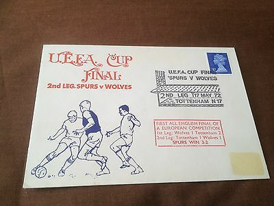 1972 UEFA CUP FINAL 2nd LEG TOTTENHAM V WOLVERHAMPTON – COMMEMORATIVE COVER