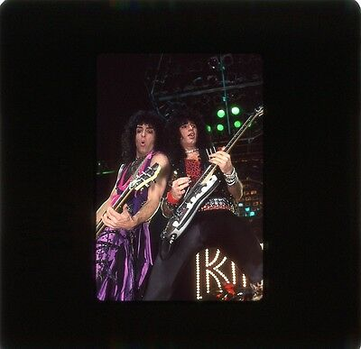 Kiss  4 Original Color  35Mm Slides Group Shots 1985 From Circus Magazine