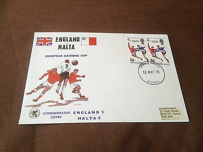 England V Malta – Commemorative Cover – European Nations Cup 1972