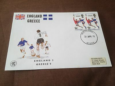England V Greece – Commemorative Cover – European Championships 1972