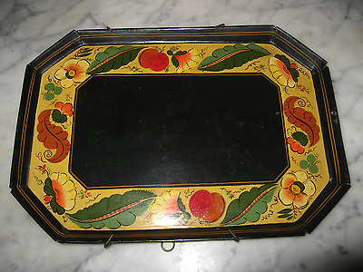 Vintage Toleware Tray signed and dated 1954 with wall hanger