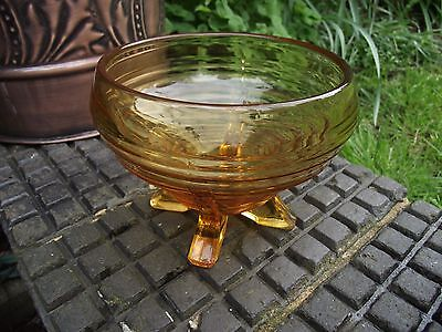 Sowerby Vintage Art Deco Amber Glass 2652 Rose Vase