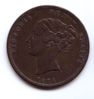 New Zealand 1874 Auckland Penny, United Service Hotel
