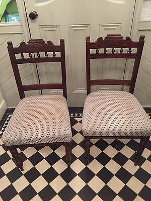 6 Edwardian Chairs Antique Dining Chairs