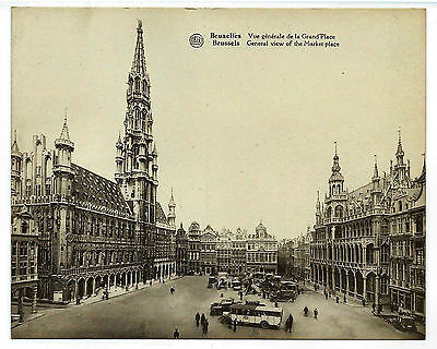 Unused Large Vintage Postcard - The Grand Place, Brussels