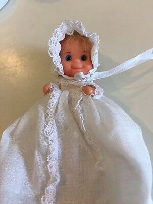 1973 mattel SUNSHINE FAMILY 3 Inch BABY DOLL SWEETS CUTE BLOND BLUE EYES