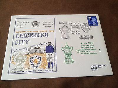 Leicester City Fc – Commemorative Cover –  Fa Cup V Wolverhampton Jan 1972