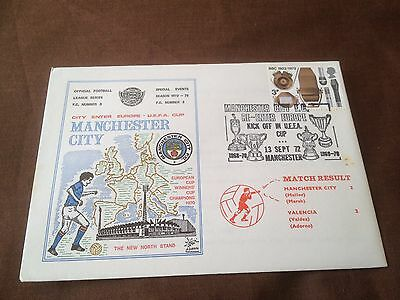 Manchester City Fc – Commemorative Cover – Uefa Cup V Valencia 1972