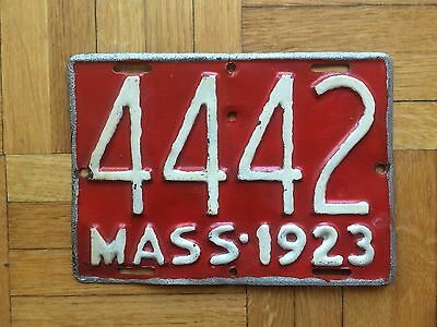 1923 Massachusetts Motorcycle License Plate