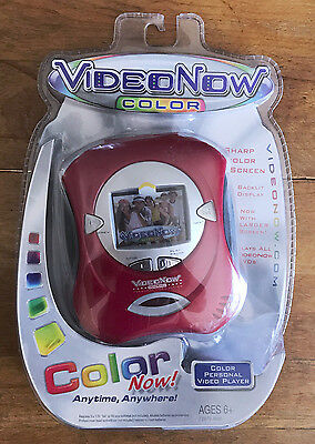 Hasbro Tiger VideoNow Color Now! 2004 Red Personal Video Player NEW SEALED NIP