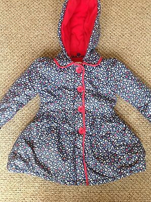 Mini Club girls blue floral coat age 4-5 years
