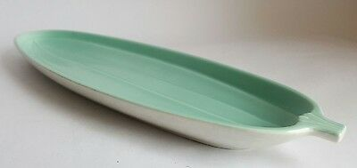 Vintage Poole Pottery Twintone Cucumber Dish , Ice Green & Seagull
