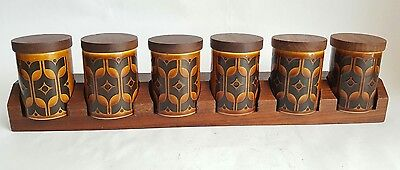 Vintage Hornsea Brown Heirloom Spice Rack, Designed by John Clappison