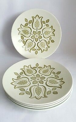 Vintage J&G Meakin Maidstone 'Tulip Time' Dinner plates x 5