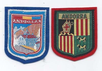Principality of Andorra Old Woven on Felt Travel Souvenir Patch Coat of Arms