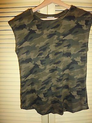 Camouflauge t-shirt/top Size 10/36