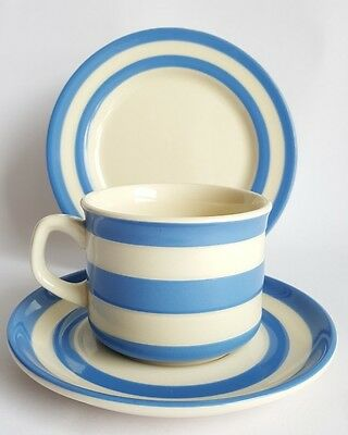 Vintage T.G Green Cornishware Cup & Saucer and Side Plate