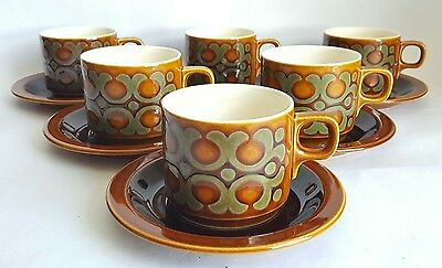Vintage Hornsea Bronte Cup & Saucer X 6 , Designed by John Clappison