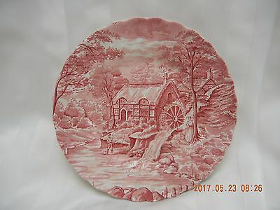 Vintage Alfred Meakin The Mill Plate Red