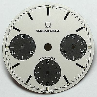Universal Genève Compax Nina Rindt Dial Ref 885103 and 885105