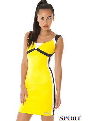 Beautiful Yellow Casual Sports Gym style sports, workout, tennis Dress Size UK12