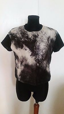 Womens Double Chiffon Front Box  Structure T Shirt Top Size 10