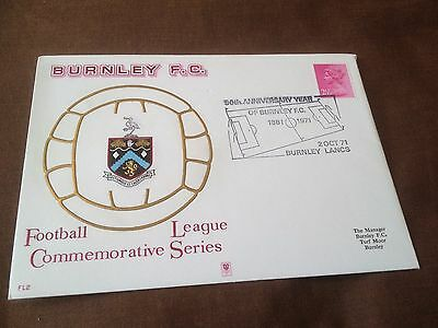 Football League Commemorative Series Cover – Burnley Fc – 1971 Fl2