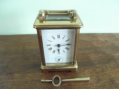 Antique Brass Alarm french Carriage clock working order