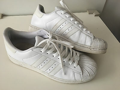 Men's ADIDAS Superstar Trainers – All White – UK Size 9 (43) - Used