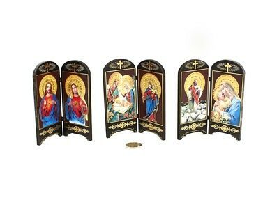 Jesus & Mary 11x13cm DECORATIVE HOLY FOLDING SCREEN choose your design