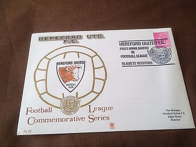 Football League Commemorative Series Cover – Hereford United 1972 Fl12