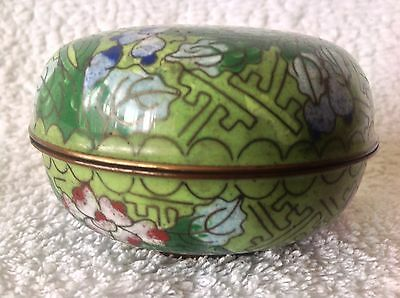 Cloisonne Trinket box with lid.