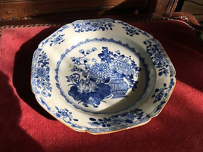antique 18th century chinese blue and white plate