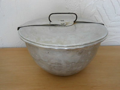 Vintage Metal Steam Pudding Basin With Lid