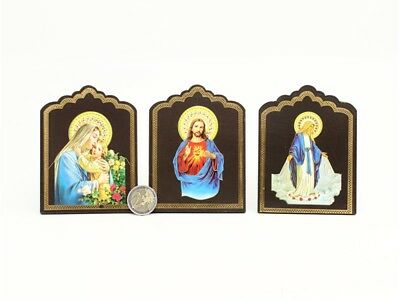 Jesus & Mary 8x10.5cm DECORATIVE HOLY PLAQUE choose your design