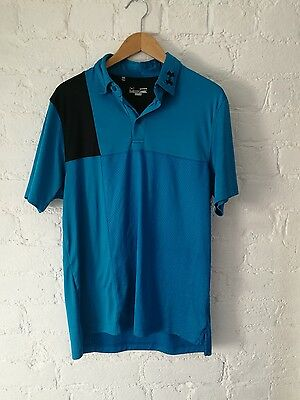 mens Under Armour golf polo t-shirt UK L