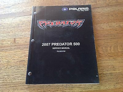 OEM Polaris 2007 Predator 500 ATV Service Manual w/CD PN: 9920782