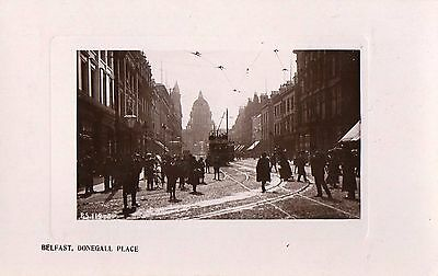 BELFAST DONEGALL PLACE BELFAST ANTRIM IRELAND RP POSTCARD by THE RAPID PHOTO CO.