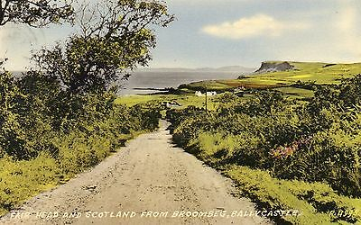 Fair Head & Scotland From Broombeg Ballycastle Antrim Ireland Valintine Postcard