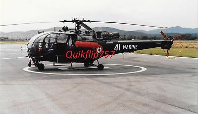 1988 Roger Chenard Signed Real Photo - Aérospatiale Alouette III, France Marines
