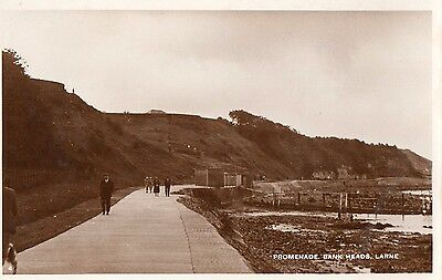 PROMENADE BANKS HEAD LARNE ANTRIM IRELAND RP IRISH POSTCARD by M & L NATIONAL