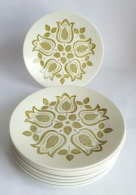 Vintage J&G Meakin Maidstone 'Tulip Time' Side plates x 6