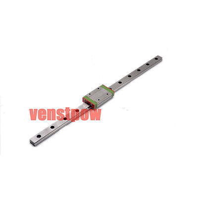 MR9 9mm Mini MGN9 Linear Guide Rail 450mm + MGN9H Linear Block Carriage For CNC