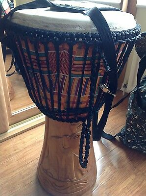 Djembe drum top quality new with travel bag and harness
