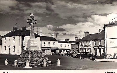 THE SQUARE OLDCASTLE CO. MEATH IRELAND RP IRISH POSTCARD Pub; by LES GRANT