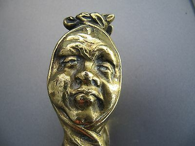 Antique Brass Face Nutcrackers - Unusual - Lovely