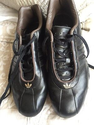 Men's Team Adidas black Leather trainers size 7.5