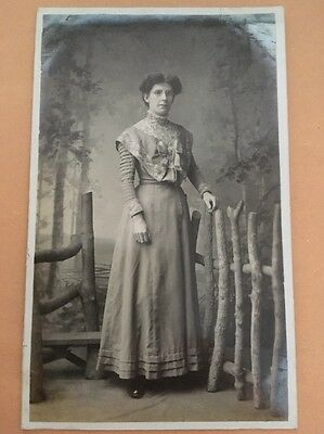 Old Edwardian Family Photograph Postcard